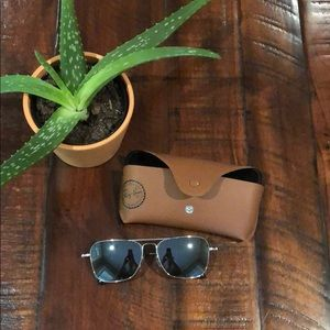 RayBan Caravan Titanium polarized sunglasses